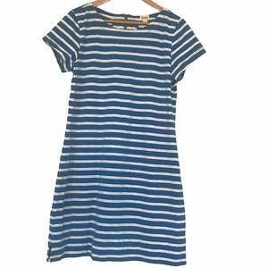 Hatey striped cotton t shirt dress L